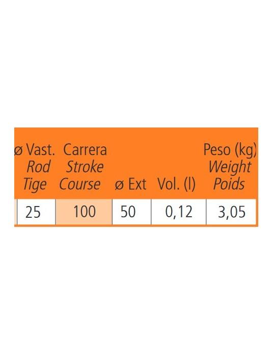 Medidas y peso de cilindro especial para tractores