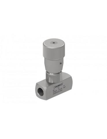 Regulador de caudal hidráulico, pomo bidireccional
