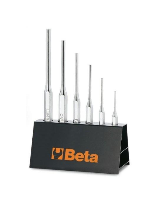 Juego de 6 botadores cilíndricos (art. 31) con soporte 31/SP6 000310030 Beta